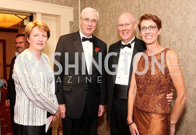Marie Collins, Michael Collins, Christophe Brouillire, Annie Brouillire, Photo by Tony Powell