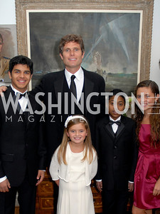 Omar Nasser al Khanji, Carolina Shriver, Anthony Shriver, Faisal Sultan, Francesca Sultan, Photo by Kyle Samperton