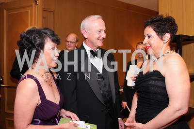 Janet Sloan, Bob Sloan, Sheila Johnson,Photo by Tony Powell