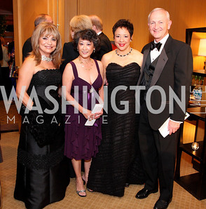 Annie Totah, Janet Sloan, Sheila Johnson, Bob Sloan, Photo by Tony Powell
