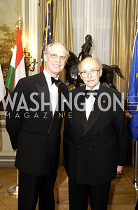 Archduke Otto von Habsburg, the grandson of the last emperor of the Austo-Hungarian empire, and his family attend a dinner at the Cosmos Club in Washington, DC  on Wednesday, April 13, 2005.  ( James R. Brantley /  The Washington Times )