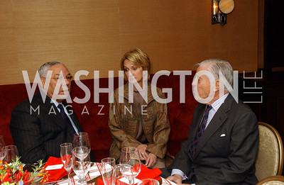 Colin Powell, Gahl Burt, Ben Bradley  Buffy and Bill Cafritz host a party marking the opening of the newly refurbished Jockey Club in the Fairfax Hotel in Washington, DC on Thursday, November 20, 2008.  (James R. Brantley)