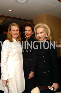 Genny Ryan, Ambassador Nancy Brinker, Lynn Wyatt  Buffy and Bill Cafritz host a party marking the opening of the newly refurbished Jockey Club in the Fairfax Hotel in Washington, DC on Thursday, November 20, 2008.  (James R. Brantley)