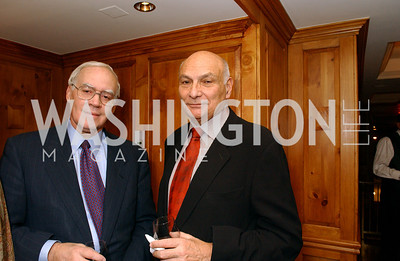 George Walker, Michael Kahn  Buffy and Bill Cafritz host a party marking the opening of the newly refurbished Jockey Club in the Fairfax Hotel in Washington, DC on Thursday, November 20, 2008.  (James R. Brantley)