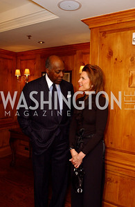 Vernon Jordan, Ambassador Nancy Brinker  Buffy and Bill Cafritz host a party marking the opening of the newly refurbished Jockey Club in the Fairfax Hotel in Washington, DC on Thursday, November 20, 2008.  (James R. Brantley)