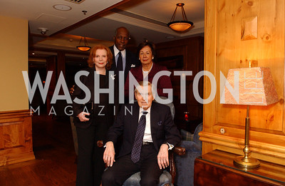 Buffy Cafritz, Vernon Jordan, Ann Jordan, Bill Cafritz  Buffy and Bill Cafritz host a party marking the opening of the newly refurbished Jockey Club in the Fairfax Hotel in Washington, DC on Thursday, November 20, 2008.  (James R. Brantley)
