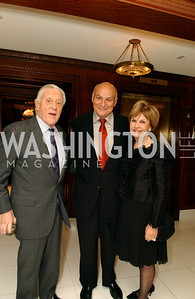 Ben Bradley, Michael Kahn, Vicki Sant  Buffy and Bill Cafritz host a party marking the opening of the newly refurbished Jockey Club in the Fairfax Hotel in Washington, DC on Thursday, November 20, 2008.  (James R. Brantley)