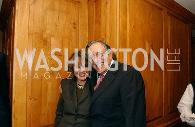 Ann Hand, Ron Dozoretz  Buffy and Bill Cafritz host a party marking the opening of the newly refurbished Jockey Club in the Fairfax Hotel in Washington, DC on Thursday, November 20, 2008.  (James R. Brantley)