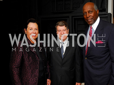 Ann Jordan, Calvin Cafritz, Vernon Jordan  Photo by Kyle Samperton