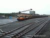 171 + 167 arrive at Lisduff Quarry, between Ballybrophy and Templemore with an empty ballast Train. Fri 01.02.08