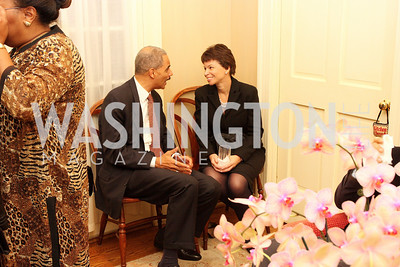 eric holder, valerie jarrett, Photograph by Tony Powell