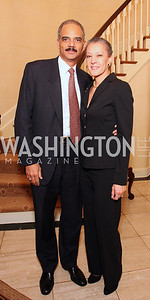 eric holder, sharon malone, Photograph by Tony Powell