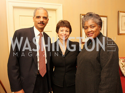eric holder, valerie jarrett, donna brazil, Photograph by Tony Powell