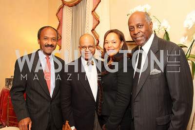 frank raines, riley temple, vernon jordan, martina bradford, Photograph by Tony Powell