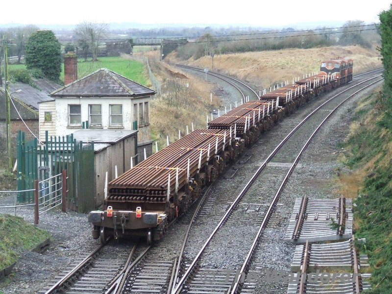 View Showing the rail wagons. Sun 20.01.08
