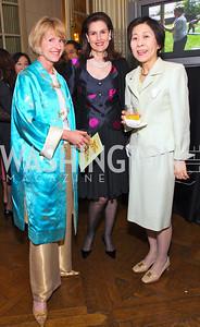 Catherine Jones, Alexandra de Borchgrave, Hanayo Kato,  Photo by Tony Powell