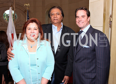 Shaista Ray, Mahmood Ray, Stuart Holliday  Photo by Tony Powell