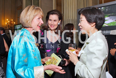 Catherine Jones, Alexandra Borchgrave, Hanayo Kato  Photo by Tony Powell