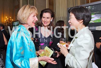 Catherine Jones, Alexandra Borchgrave, Hanayo Kato  Photo by Tony Powell