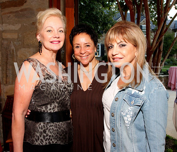 Carole Margaret RAndolph, Sheila Johnson, Annie Totah, Photo by Tony Powell