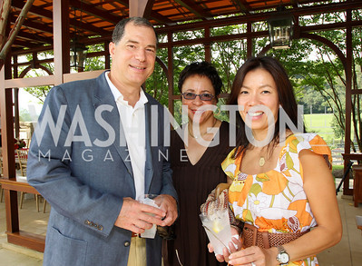 Jim Johnson, Sheila Johnson, Mai Abdo Photo by Tony Powell