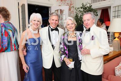 Judy Cox, Bill Cox, Nina Corby, Benno Gerson,  Photo by Tony Powell