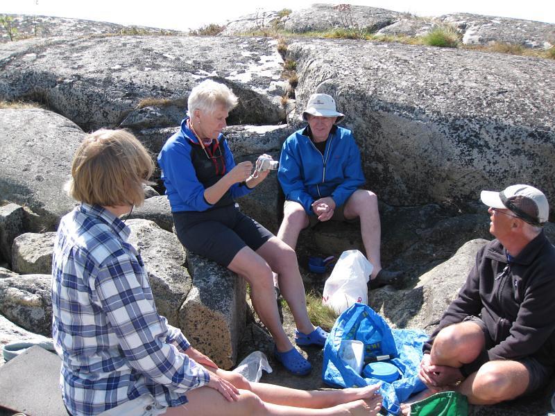 Anne, Peggy, Bo och Kjell