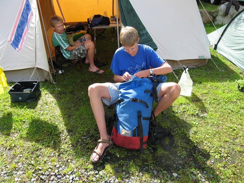 Camping in het Oetztal, Huben