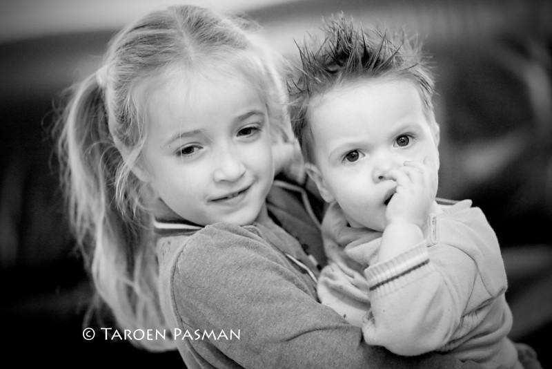 Sanne en haar neefje Jayden