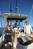 L to R: Damien, Haydn (skipper) and his son Nelson.... and my shadow !