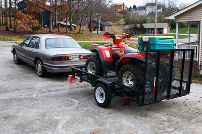 The towing setup (Obviously, I stole the cargo box from Cindi Lauper)