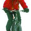 Citizen photo by David Mah Caroline Morgan is dressed properly for cold weather riding including a belaclava with an air filter to filter pollutants. Caroline was riding on 3rd Avenue.