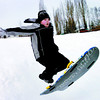 Citizen photo by Brent Braaten Thomas Ross, 10 gets some air Sunday afternoon while sleding at Carney Hill.