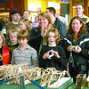 Citizen photo by Brent Braaten A crowd watches as bridges are tested at centre court at Pine Centre Mall.