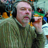 Citizen photo by David Mah Reverend Roland Ziprick calls the plays at the Provincial Basketball Championships.