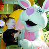 Citizen photo by Brent Braaten Michael Cassel, 3, has a visit with the Easter Bunny at Pine Centre Friday morning. The Easter Bunny will be available today (Saturday) 10;00 am - 11:30 am, 1 pm- 2:30 pm and 3:30 pm- 5 pm.