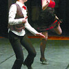 Citizen photo by Brent Braaten Cassidy Hatley, left and Melissa McCracken in tap duo 14 years and under at the 32nd annual Prince George Dance Festival.