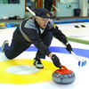 Citizen photo by David Mah Long-time curler Laurie Rustad takes part in the 82nd Annual Kelly Cup. Rustad was part of the Clarence Wigmore foursome who were playing the Dave Johnson team.