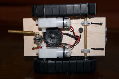 """Underside. I moved the microphone away from the """"bass drum"""" motor because it was picking up the whining of the motor louder than the drumming itself"""