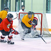 Citizen photo by Brent Braaten Cariboo Cougars practice in Kin 1 Thursday morning prior to loading the bus and heading to Calgary.