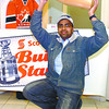 Citizen photo by David Mah Rajan Sharma hoists his entry in the Scotiabank nation-wide 'Build Stanley'TM contest. The winner will win a trip for 4 to a Stanley Cup Final game.