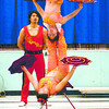 Citizen photo by David Mah As part of Arts and Culture Week in School District 57 Peden Hill Elementary brought in Chinese acrobats to perform for the students. 180 students were enthralled by Li Feng, bottom, and Xiao Li and their balancing acts. The troup is touring western Canada then returning to Los Vegas.
