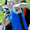 Citizen photo by Brent Braaten Mitch Elliot in the shotput at the Sub Zero track meet Saturday.