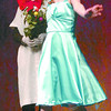 Citizen photo by David Mah Gertrude McFuzz, played by Courtney Hannigan sings about how she would like more feathers to the Cat in the Hat, play by Jessy Bokvist in the Vanderhoof Children's Theatre presentation of Seussical Jr. played to a full house of Prince George elementry at the Prince George Playhouse Wednesday morning.