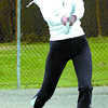 Citizen photo by David Mah Laura Kozak and her friends started hitting the tennis ball around the 20th Avenue tennis court  Wednesday. They were experienced in keeping their eyes on the ball.