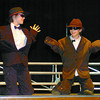 Citizen photo by David Mah Central Fort George Traditional School students Brett Kitchen, 10, left, and Daniel Straton, 10, performed their Dancing Midgets to Soul Man in front of the student for the Mother's Day Tea and Talent Show to be held on Friday at 1 p.m.