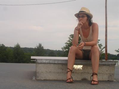 Kelsey considers Andrs' skateboarding