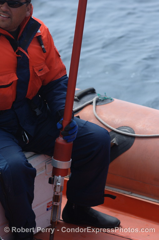 whale tagging rifle - vessel inflatible Hurricane OSU Pacific Storm 2008 07-26 SB Channel_0154