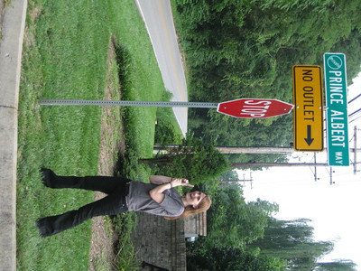 Leslie came to visit and was enthralled by all the suggestive street signs
