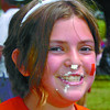 Citizen photo by David Mah Sienna Greenberg, 10, had leftovers or her Canada Day cake on her nose.